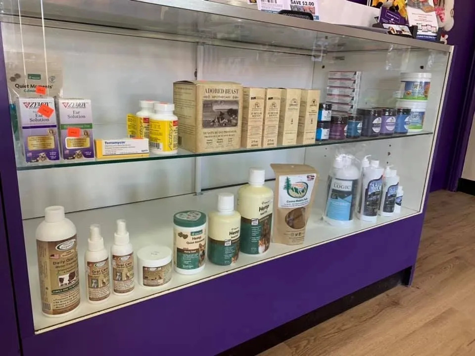 products displayed in counter display